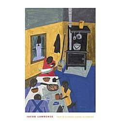 Jacob Lawrence : This is a Family Living in Harlem