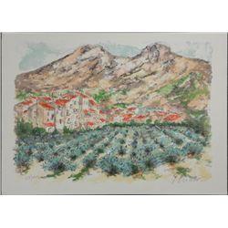 Urbain Huchet Lavandes en Provence S/N Lithograph Print