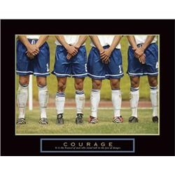 Courage Soccer Players Sport Photo Print