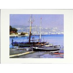 Herve Fenouil/Bower French Art Print Fishing Boats