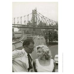 Sam Shaw Photo Print Marilyn Monroe & Arthur Miller NY