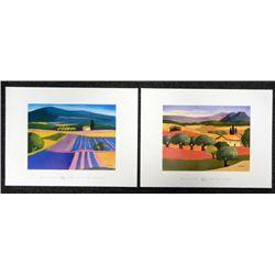 2 Elisabeth Estivalet Art Prints Oliviers, Parterre De