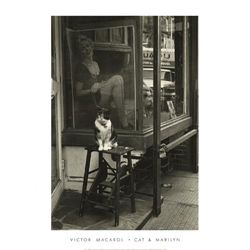 Victor Macarol Cat and Marilyn Thompson St. NYC 1988