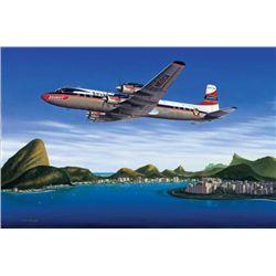 Seven Seas to Rio Mike Machant Aviation Art Signed