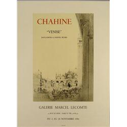 Edgar Chahine Venise 1981 Poster Lithograph
