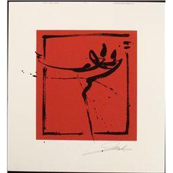 Alfred Gockel Abstract Ice Skating Signed Art Print