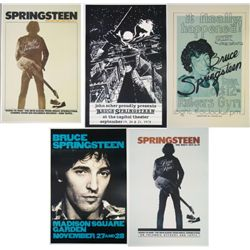 """5 Bruce Springsteen """"The Boss"""" Repro Concert Posters"""