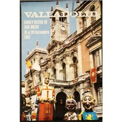 Valladolid Fiestas San Mateo Vintage Poster Spain 1967