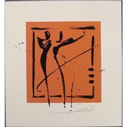 Alfred Gockel Serigraphs Face Forward Art Signed Print