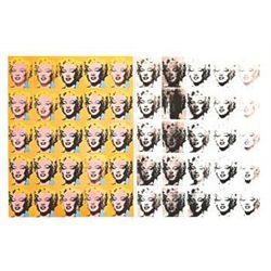 2 Andy Warhol Art Prints Marilyn Monroe 1967, 50 Images
