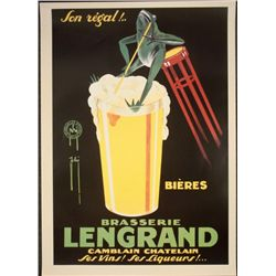 Very Large Art Poster Phi Brasserie Lengrand (Brewery)