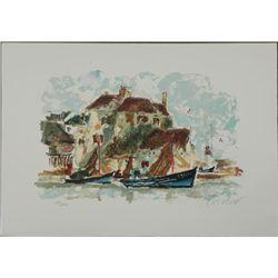 Urbain Huchet Le Petit Port S/N Lithograph Print