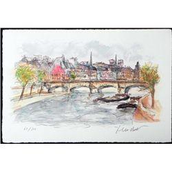Urbain Huchet Signed Ltd Ed Print La Seine Paris