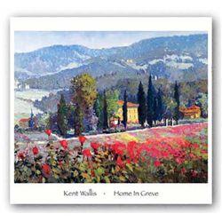 Kent Wallis Art Print Home In Greve France