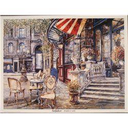 Vadik Suljakov Paris Cafe Art Print Poster