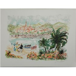 Lithograph Print Beaulieu Signed and Numbered Huchet