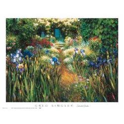 Greg Singley Floral Art Print Secluded Garden