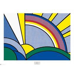 Roy Lichtenstein Art Print Modern Painting of Sun Rays