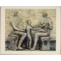 Henry Moore : Family Group Sculpture Art Print