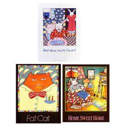 3) Nancy Carlson Prints- Fat Cat Home Sweet Home