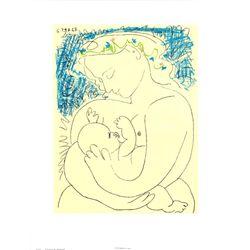 Pablo Picasso Motherhood Apres Art Print Circa 1970