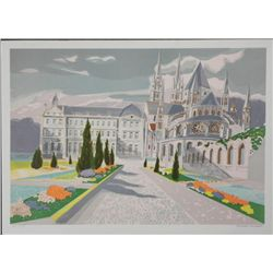 Castle Lithograph Print Signed and Numbered Lambert