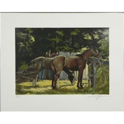 Harry Schaare Horses Signed and Numbered Litho Print