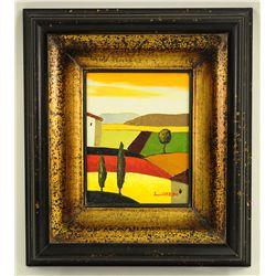 L. Cobedo Modern landscape Oil On Canvas Painting