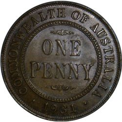 Australia 1931 Penny (English Obverse/Aligned 1 in Date) - NGC MS65 BN