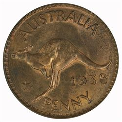 Australia 1938 Penny - NGC - MS64RB