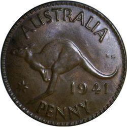 Australia 1941 K.G Penny - NGC MS64 BN - Specimen like surfaces.