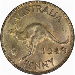 Australia 1949 Penny - NGC MS64RB