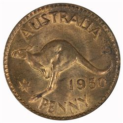 Australia 1950 Penny - NGC MS63RB