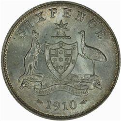 Australia 1910 Sixpence - NGC MS63