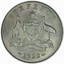 Australia 1922 Sixpence - NGC MS63