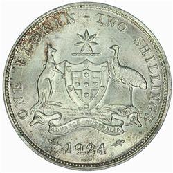 Australia 1924 Florin - NGC MS65