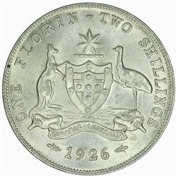 Australia 1926 Florin - NGC MS62