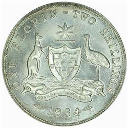 Australia 1934 Florin - NGC MS64