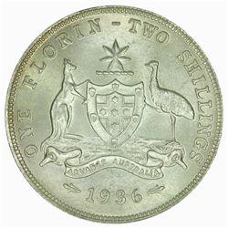 Australia 1936 Florin - NGC MS64