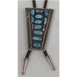 Vintage Sterling Turquoise Bolo Tie