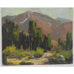Original Oil ''Mount Bishop'' by Ernie Dollman