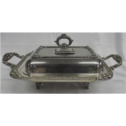Ellegant Silverplate Covered Chafing Dish