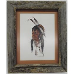 1968 Woody Crumbo ''Young Brave'' Framed Print