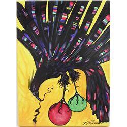 Original Acrylic ''Firebird'' by Kills Thunder