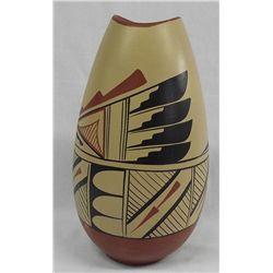 1951 Jemez Polychrome Vase by Carmelita Gachupin
