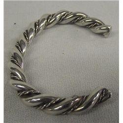 Navajo Twisted Sterling Silver Bracelet