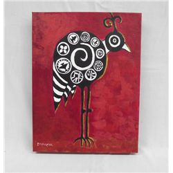 Original Acrylic ''My Mimbreno Happy Bird'' Savarese