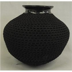 Mata Ortiz Highly Textured Jar by Benjamin Soto.