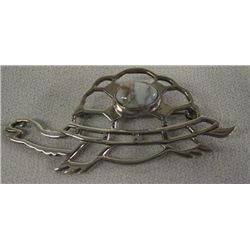 Navajo Sterling Turquoise Turtle Pin