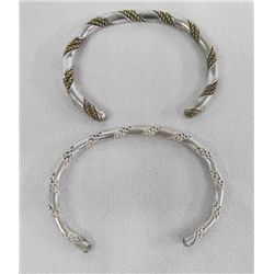 Navajo Sterling Twisted Silver Bracelets